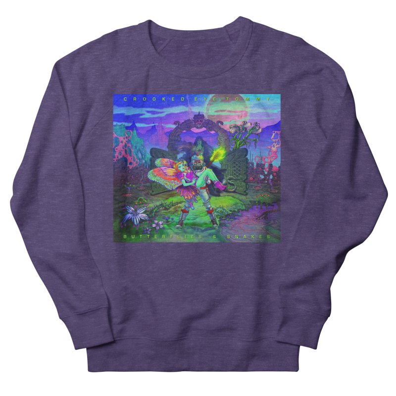 Butterflies & Snakes Cover Women's French Terry Sweatshirt by Crooked Eye Swag Shop