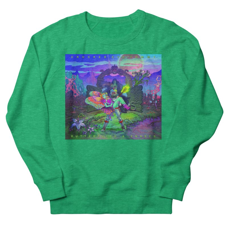 Butterflies & Snakes Cover Men's French Terry Sweatshirt by Crooked Eye Swag Shop