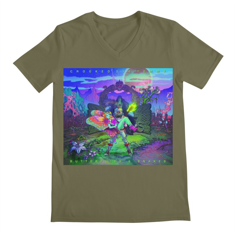 Butterflies & Snakes Cover Men's V-Neck by Crooked Eye Swag Shop