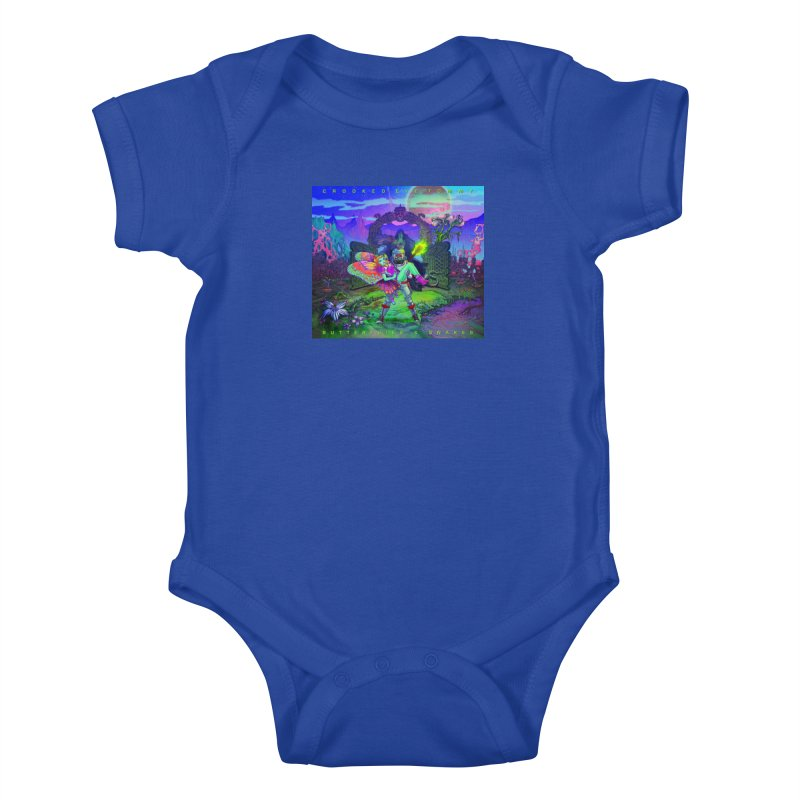 Butterflies & Snakes Cover Kids Baby Bodysuit by Crooked Eye Swag Shop