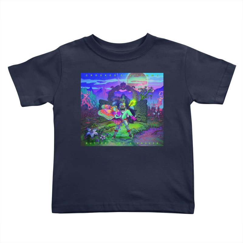 Butterflies & Snakes Cover Kids Toddler T-Shirt by Crooked Eye Swag Shop