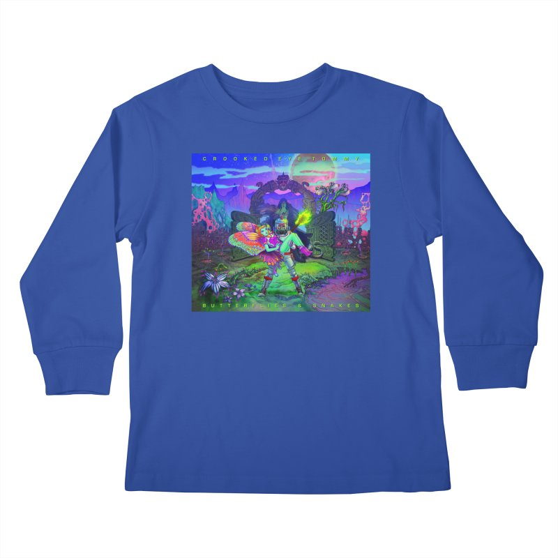 Butterflies & Snakes Cover Kids Longsleeve T-Shirt by Crooked Eye Swag Shop