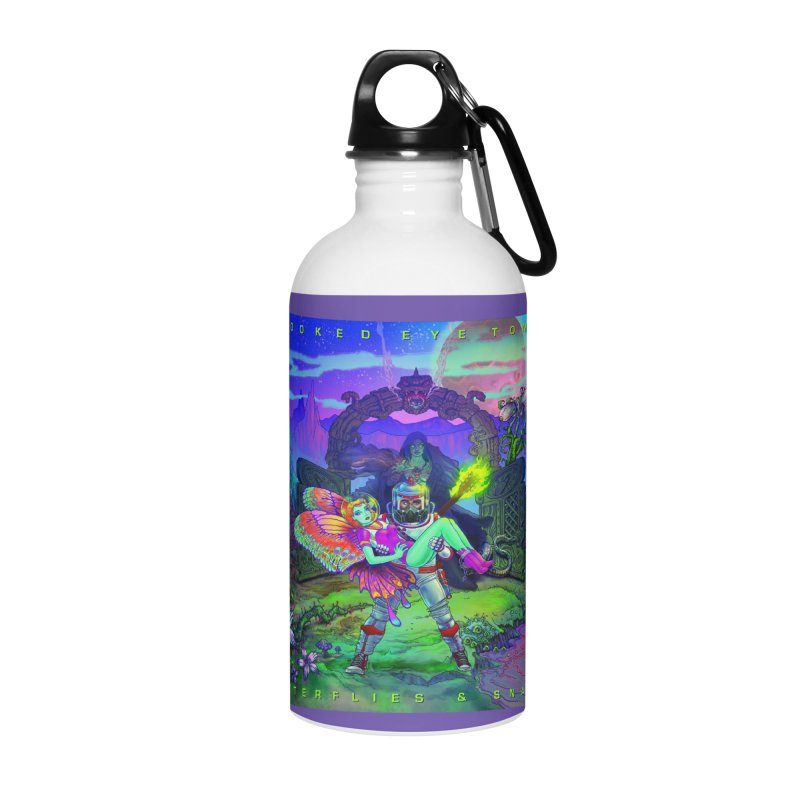 Butterflies & Snakes Cover Accessories Water Bottle by Crooked Eye Swag Shop