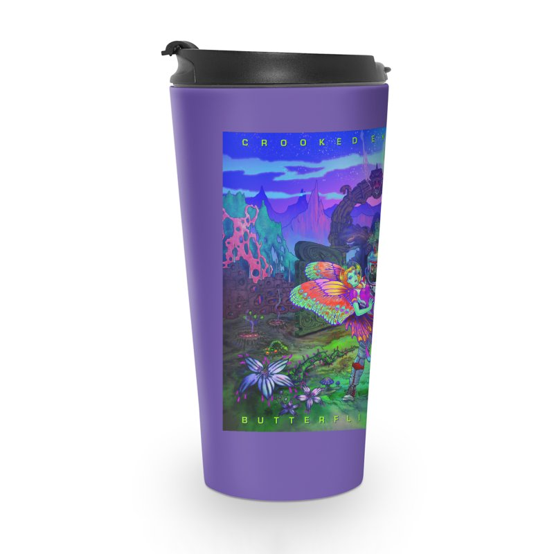 Butterflies & Snakes Cover Accessories Travel Mug by Crooked Eye Swag Shop