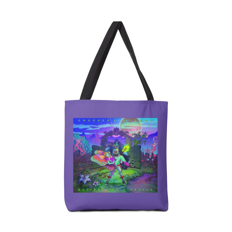 Butterflies & Snakes Cover Accessories Tote Bag Bag by Crooked Eye Swag Shop