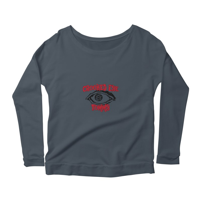 CET Logo Women's Longsleeve Scoopneck  by Crooked Eye Swag Shop