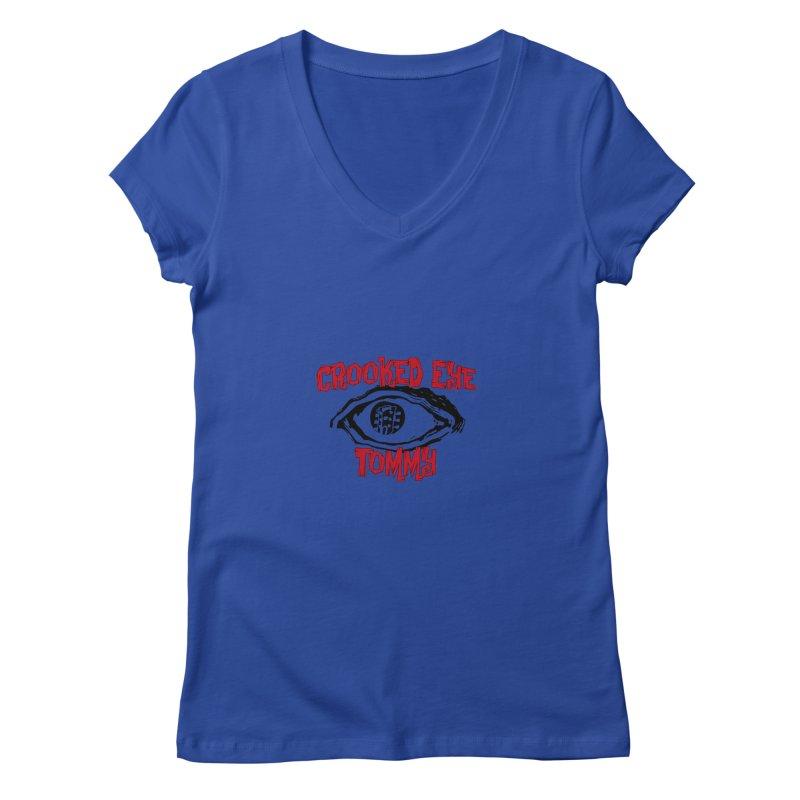 CET Logo Women's Regular V-Neck by Crooked Eye Swag Shop