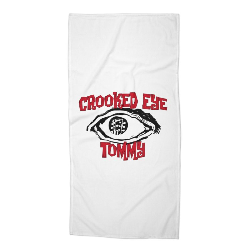 CET Logo Accessories Beach Towel by Crooked Eye Swag Shop