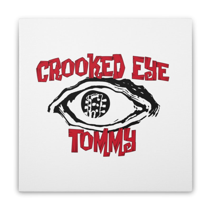 CET Logo Home Stretched Canvas by Crooked Eye Swag Shop