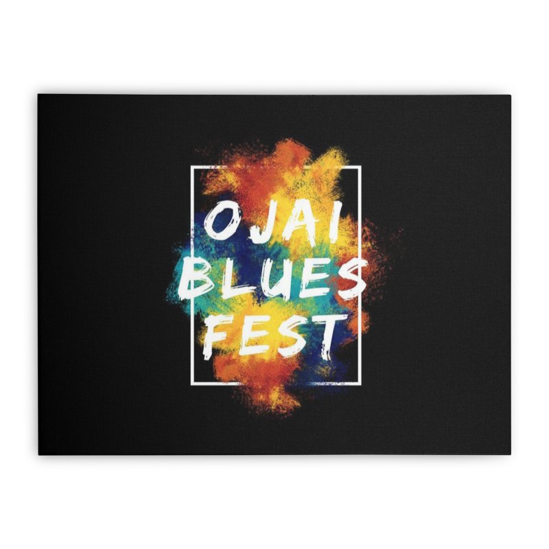Ojai Blues Fest Logo Home Stretched Canvas by Crooked Eye Swag Shop