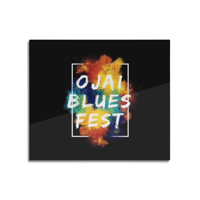 Ojai Blues Fest Logo Home Mounted Acrylic Print by Crooked Eye Swag Shop