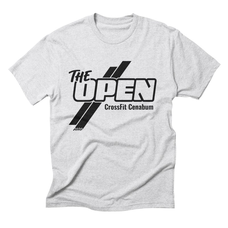 The Open 2020 in Men's Triblend T-Shirt Heather White by Le Shop CrossFit Cenabum