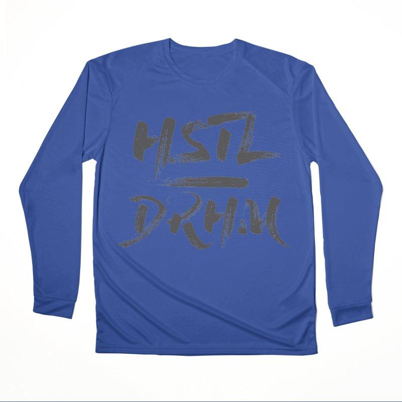HUSTL DRHM (grey) Men's Performance Longsleeve T-Shirt by CrossFit Durham