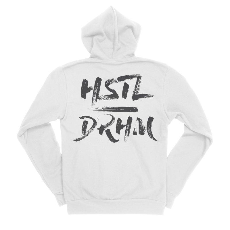 HUSTL DRHM (grey) Men's Sponge Fleece Zip-Up Hoody by CrossFit Durham