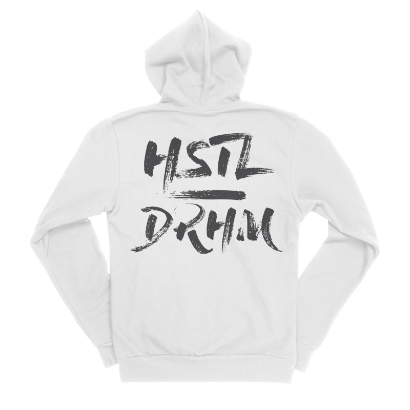 HUSTL DRHM (grey) Women's Sponge Fleece Zip-Up Hoody by CrossFit Durham