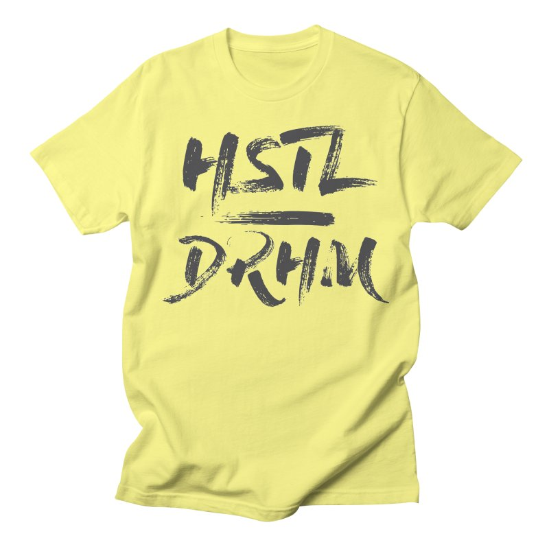 HUSTL DRHM (grey) Men's T-Shirt by CrossFit Durham