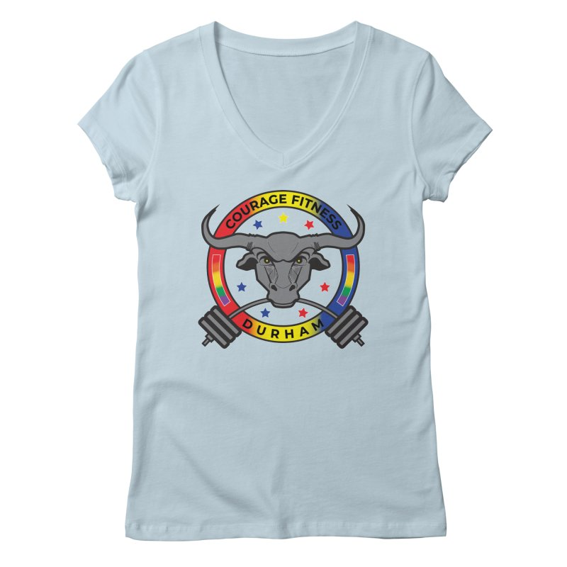 Courage Fitness Pride 2020 Women's V-Neck by Courage Fitness Durham