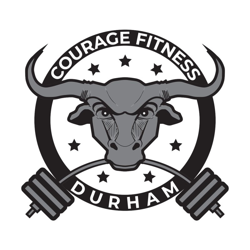Courage Fitness B&W Kids Toddler T-Shirt by Courage Fitness Durham