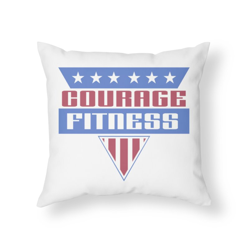 Gladiators Home Throw Pillow by Courage Fitness Durham