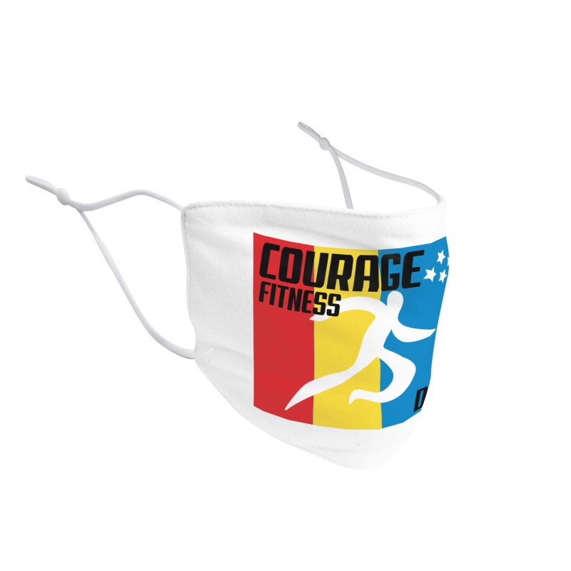Durham Flag Accessories Face Mask by Courage Fitness Durham
