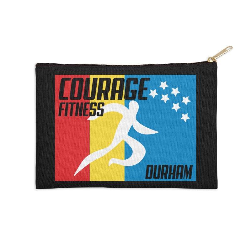 Durham Flag Accessories Zip Pouch by Courage Fitness Durham