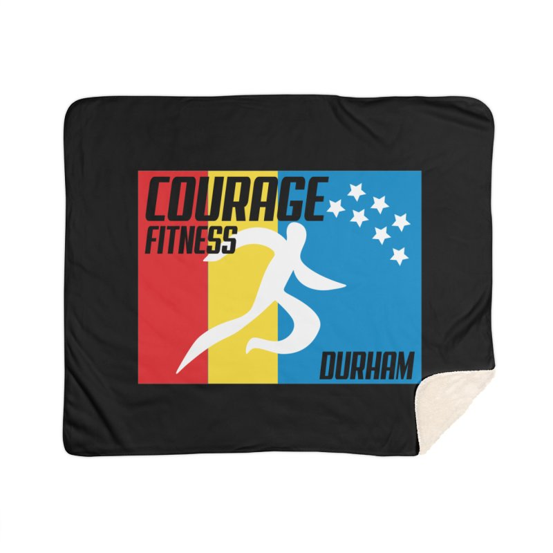 Durham Flag Home Blanket by Courage Fitness Durham