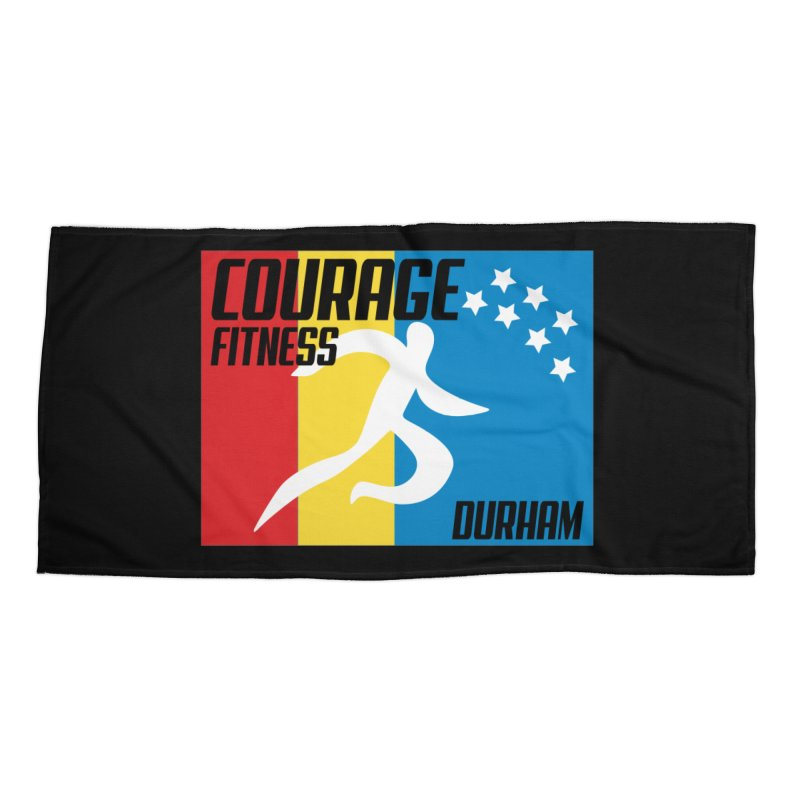 Durham Flag Accessories Beach Towel by Courage Fitness Durham