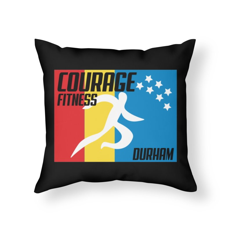 Durham Flag Home Throw Pillow by Courage Fitness Durham