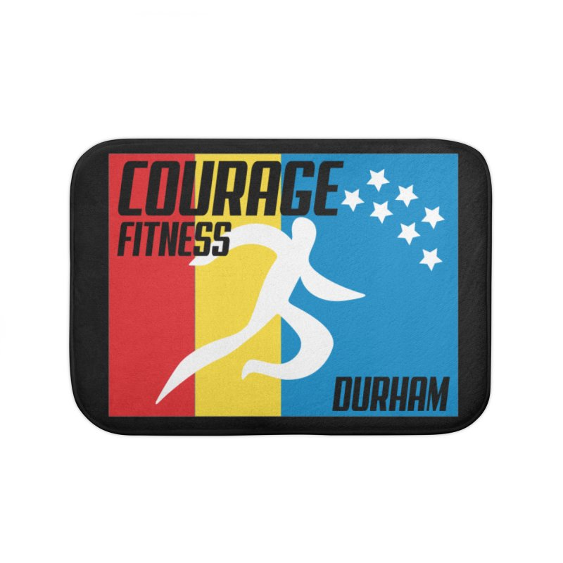 Durham Flag Home Bath Mat by Courage Fitness Durham