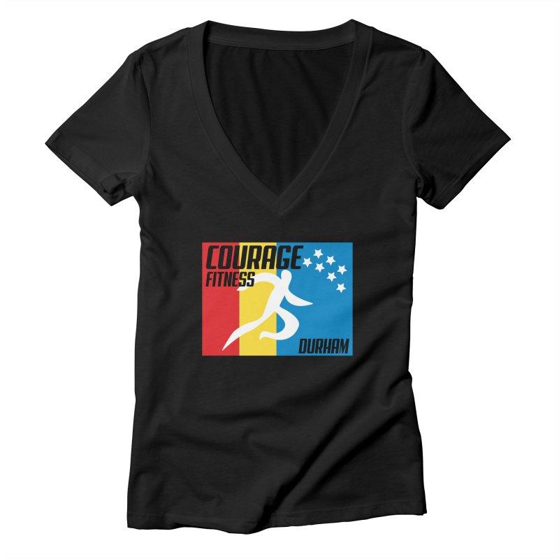 Durham Flag Women's V-Neck by Courage Fitness Durham