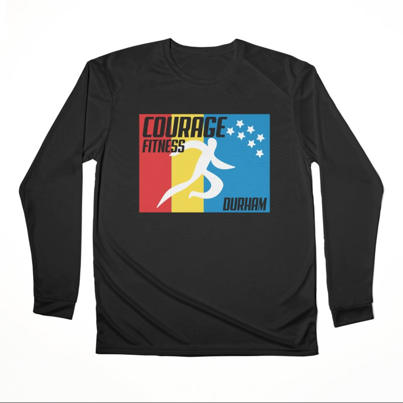 Durham Flag Men's Longsleeve T-Shirt by Courage Fitness Durham