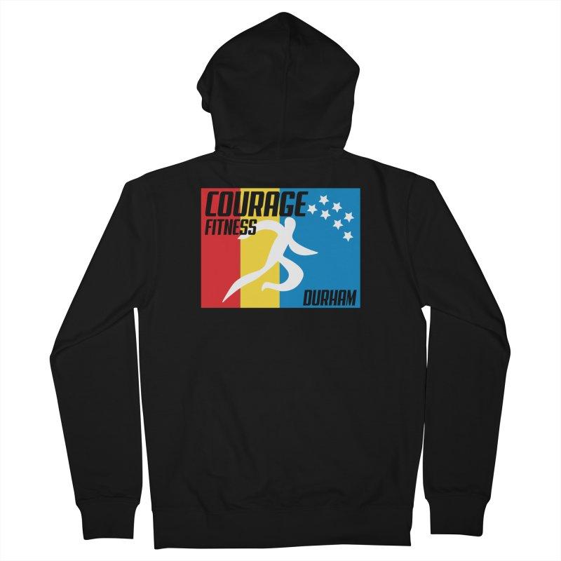Durham Flag Men's Zip-Up Hoody by Courage Fitness Durham
