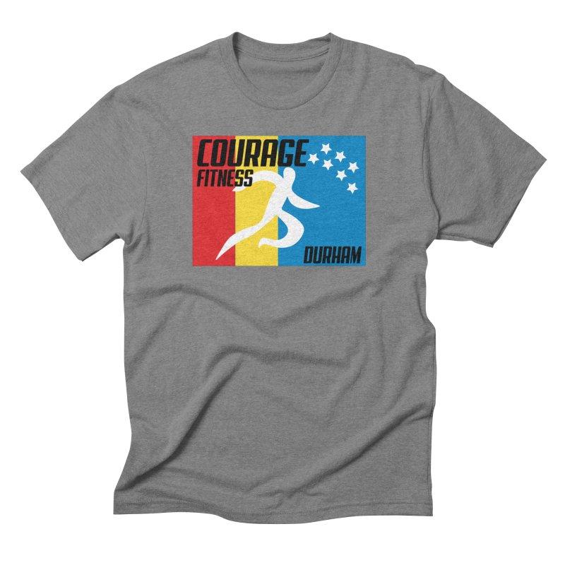 Durham Flag Men's T-Shirt by Courage Fitness Durham