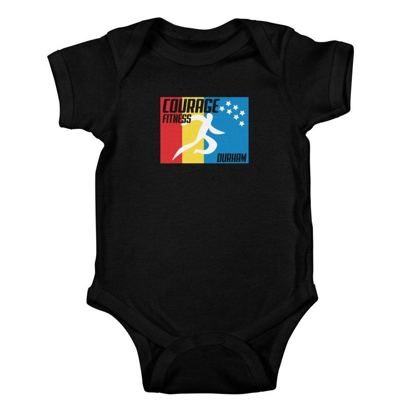 Durham Flag Kids Baby Bodysuit by Courage Fitness Durham