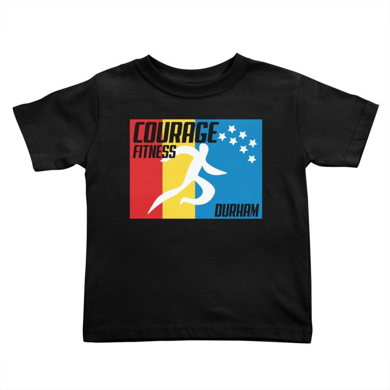 Durham Flag Kids Toddler T-Shirt by Courage Fitness Durham