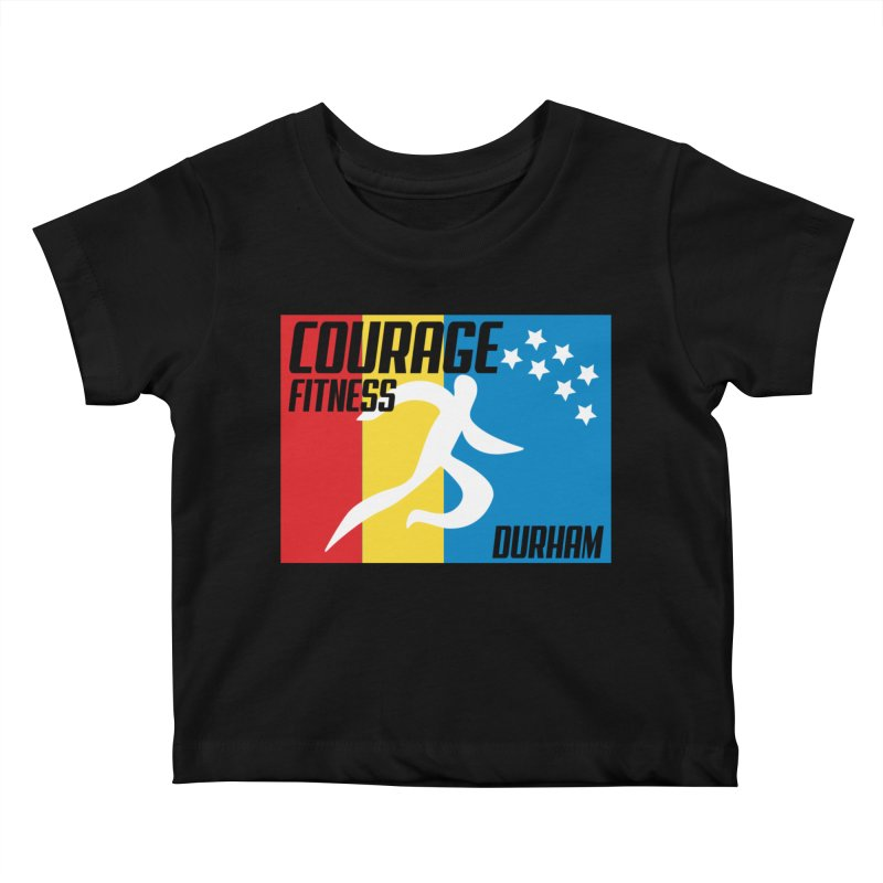 Durham Flag Kids Baby T-Shirt by Courage Fitness Durham