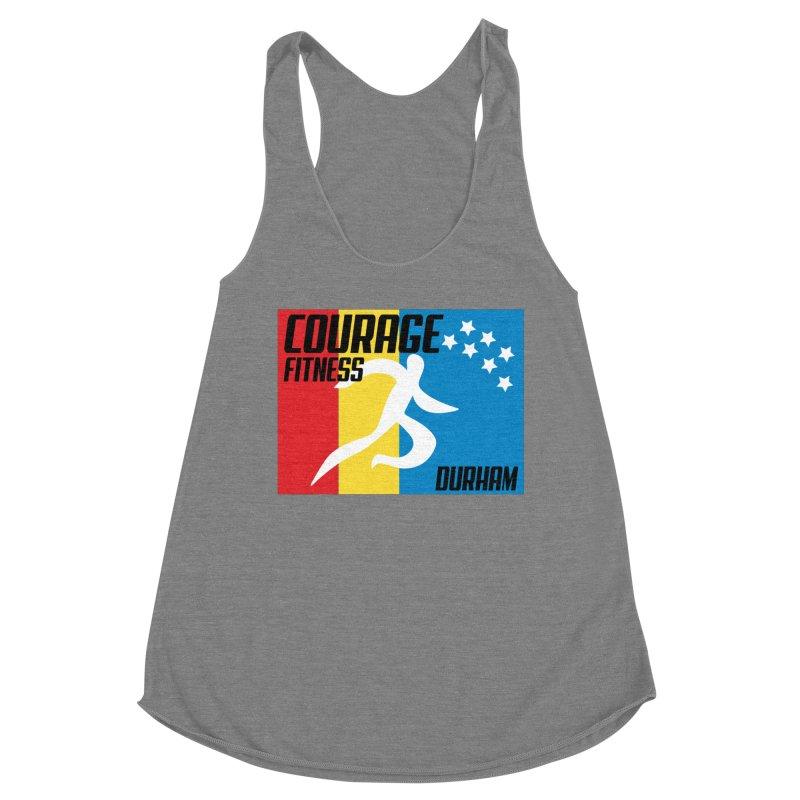 Durham Flag Women's Tank by Courage Fitness Durham