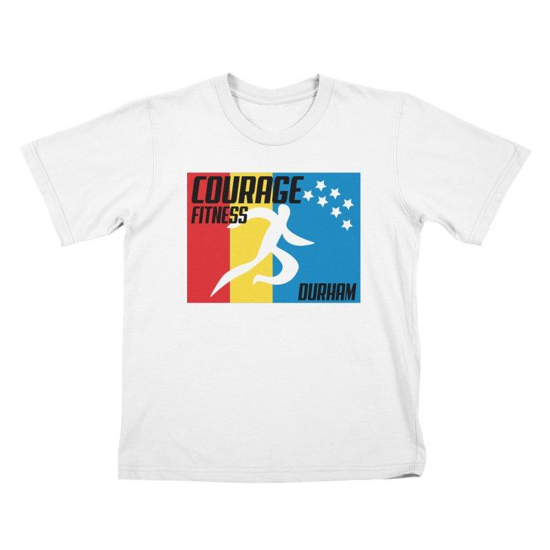 Durham Flag Kids T-Shirt by Courage Fitness Durham