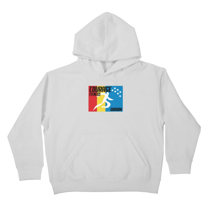 Durham Flag Kids Pullover Hoody by Courage Fitness Durham
