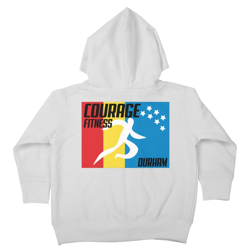 Durham Flag Kids Toddler Zip-Up Hoody by Courage Fitness Durham