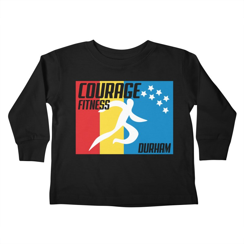 Durham Flag Kids Toddler Longsleeve T-Shirt by Courage Fitness Durham