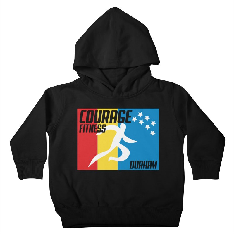 Durham Flag Kids Toddler Pullover Hoody by Courage Fitness Durham