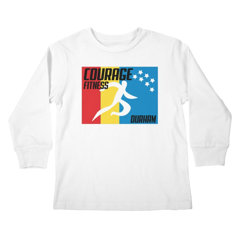 Durham Flag Kids Longsleeve T-Shirt by Courage Fitness Durham