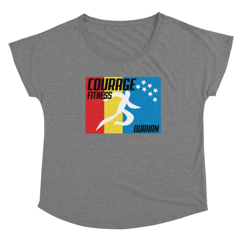 Durham Flag Women's Scoop Neck by Courage Fitness Durham