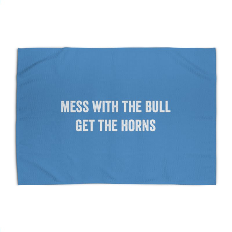 Mess With The Bull Home Rug by Courage Fitness Durham