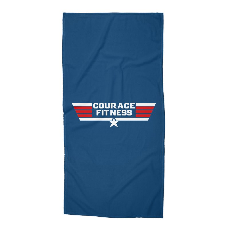 Top Gun Accessories Beach Towel by Courage Fitness Durham