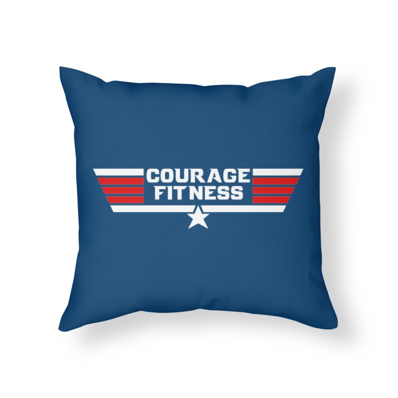 Top Gun Home Throw Pillow by Courage Fitness Durham
