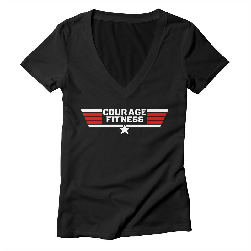 Top Gun Women's V-Neck by Courage Fitness Durham