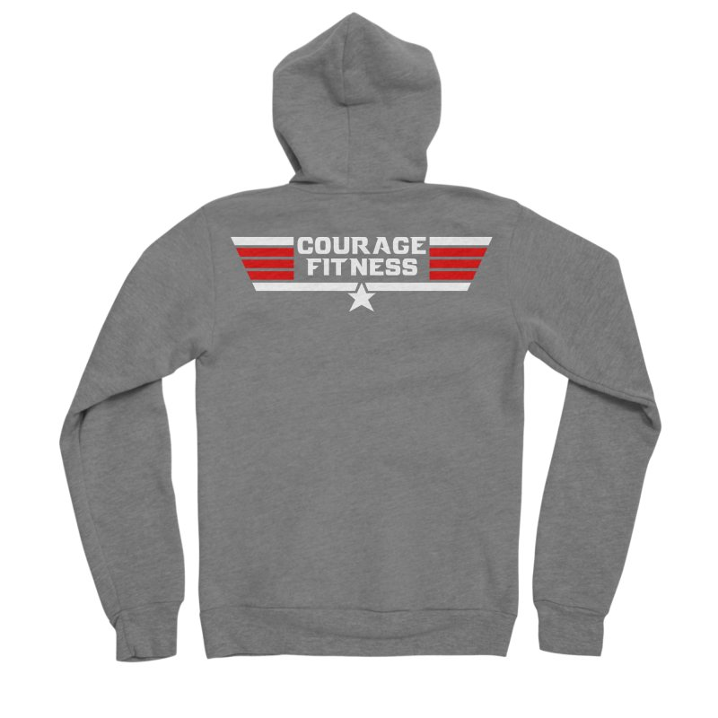 Top Gun Men's Zip-Up Hoody by Courage Fitness Durham