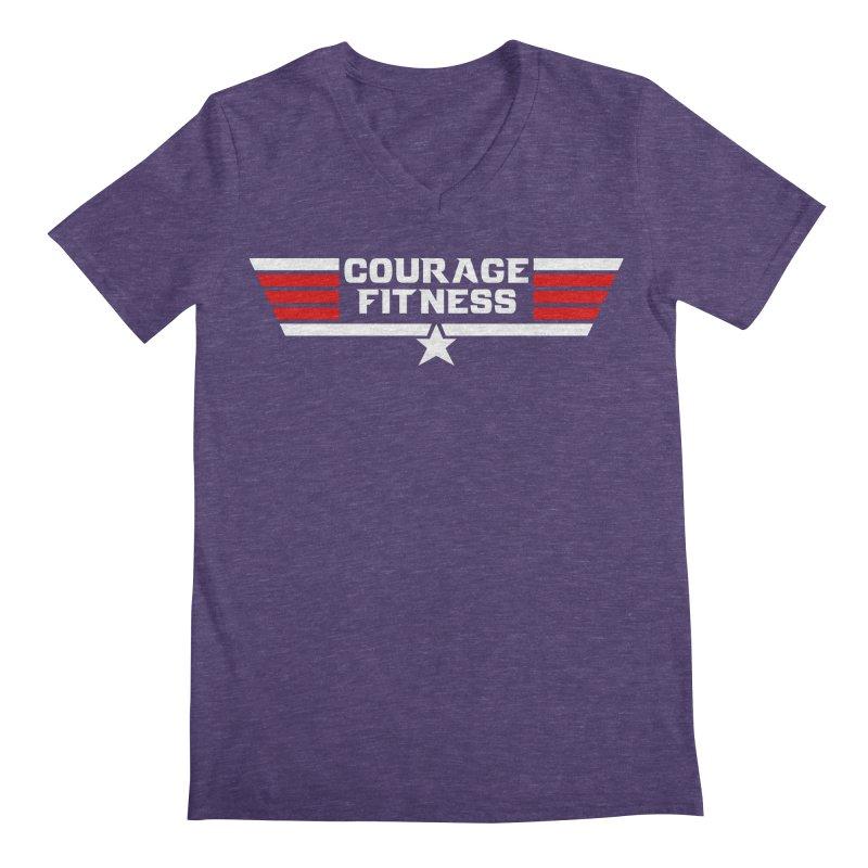 Top Gun Men's V-Neck by Courage Fitness Durham